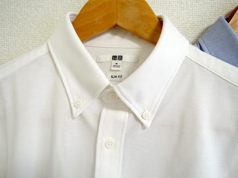イージーケアコンフォートシャツ-襟部分
