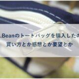 L.L.Beanのトートバッグを購入したので買い方とか感想とか要望とか。