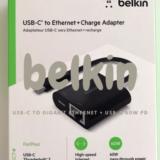 belkin USB-C to Gigabit Ethernet + USB-C 60W PD(INC001)【レビュー】