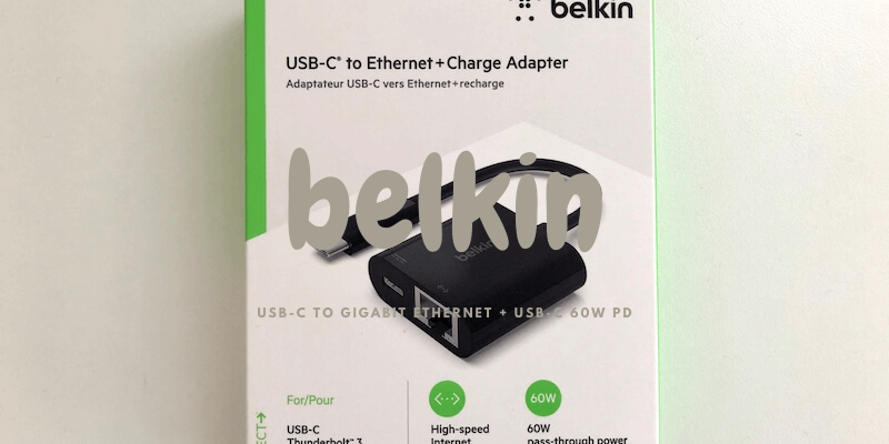 belkin USB-C to Gigabit Ethernet + USB-C 60W PD
